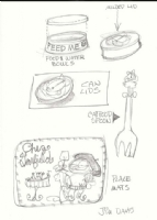 Various Garfield Merchandise Designs - Jim Davis (Kristina's) Comic Art