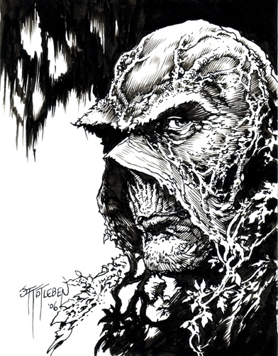 John Totleben - Swamp Thing Sketch 2006 Comic Art