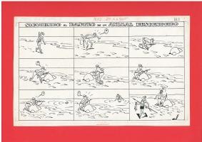 SIGUIENDO EL RASTRO DE UN ANIMAL DESCONOCIDO  by JOSEP COLL . TBO 247 PAGE 6 Comic Art