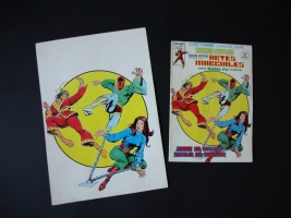 SOLD !!!  IN 2010 ) KUNG-FU . COVER BY LOPEZ ESPI 1970'S Comic Art