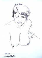 TANINO LIBERATORE   WOMAN SKETCH  BARCELONA 2010 Comic Art