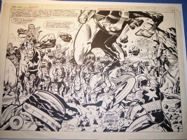 Captain America Marvel Bi-Centennial Treasury Edition - Jack Kirby Comic Art