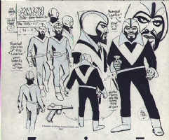 Alex Toth Samson Model sheet Comic Art