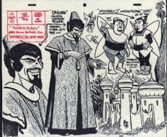 Alex Toth Shazan model sheet Comic Art