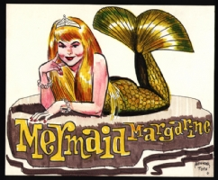 Alex Toth's Mermaid Margarine Comic Art