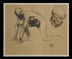 Figure Study by Joe Kubert Comic Art