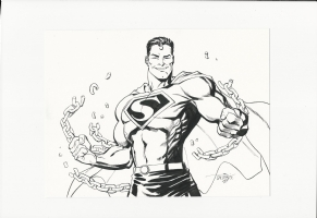 Superman illustration by Scott Dalrymple Comic Art