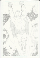 A superman penciled pin-up done by me in a Jack Kirby style. Comic Art