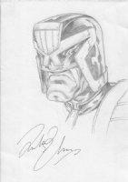 Dredd sketch Comic Art