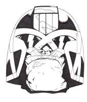 Judge Dredd Fridge Magnet Comic Art