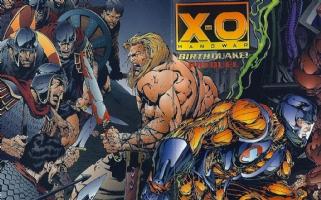X-O Manowar: Birthquake Prequel, Published Cover Comic Art