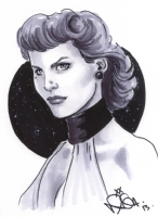 Sally Jupiter, the Silk Spectre (Watchmen film version) by Nicola Scott, Comic Art