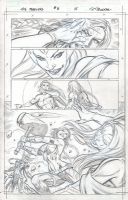 Fear Itself: The Fearless #8, P. 18 by Paul Pelletier, featuring Valkyrie, Enchantress, and Emma Frost! Comic Art