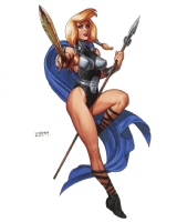 Valkyrie by Joseph Michael Linsner!, Comic Art