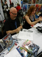 Pete and Rebecca Woods at their booth Comic Art