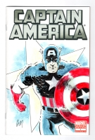 Captain America 1 sketchcover, Comic Art