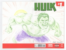 HULK  #1 sketchcover 2014 -  Greg Moutafis, Comic Art