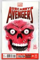 Uncanny Avengers 1 sketchcover Red Skull, Comic Art