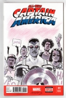 All New Captain America #1 sketchcover - Anti Violence illustration, Comic Art