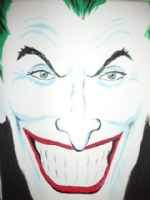 Joker painting, Comic Art