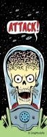Mars Attacks - Bookmark Design, Comic Art