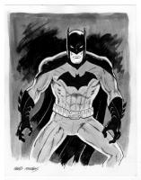 Batman ink wash, Comic Art