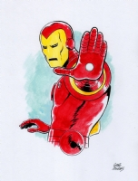Iron Man color drawing, Comic Art