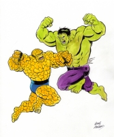 Hulk vs. Thing pinup, Comic Art