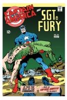Brave and the Bold #84 remix/recreation - Capt America Nick Fury, Comic Art