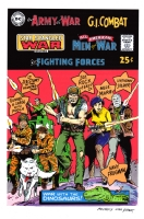 DC Our Army At War #164 recreation - Kubert tribute , Comic Art