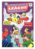 Justice League of America #21 remix/recreation  - Teen Titans teamup, Comic Art