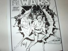 Star Wars #1 recreation - work in progress - Marvel tribute, Comic Art