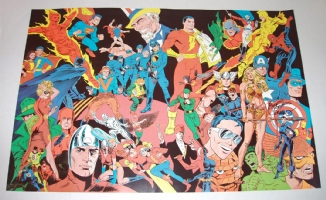 HISTORY OF COMICS signed print Steranko, Comic Art
