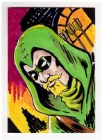 Green Arrow sketchcard, Comic Art
