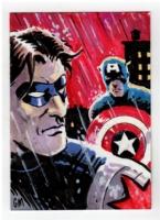 Captain America vs Winter Soldier, Comic Art