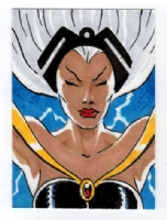Storm sketch card, Comic Art