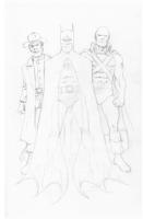 Jonah Hex/Batman/Martian Manhunter - pencil layout, Comic Art