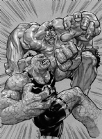Thing vs. Hulk, Comic Art