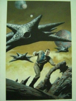 Babylon 5 #5 Cover Painting Comic Art