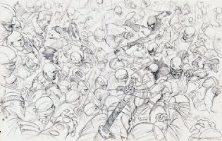 Daredevil #100 Cover ft. Spider-Man Elektra Iron Fist Luke Cage Comic Art