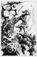 Daredevil vs Doctor Doom and the Servo-Bots Comic Art