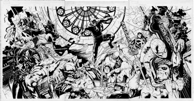 Daredevil Shadowland #1 Wraparound Gatefold Variant Cover Comic Art