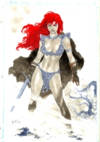 Red Sonya Pin Up by Ed Benes Comic Art