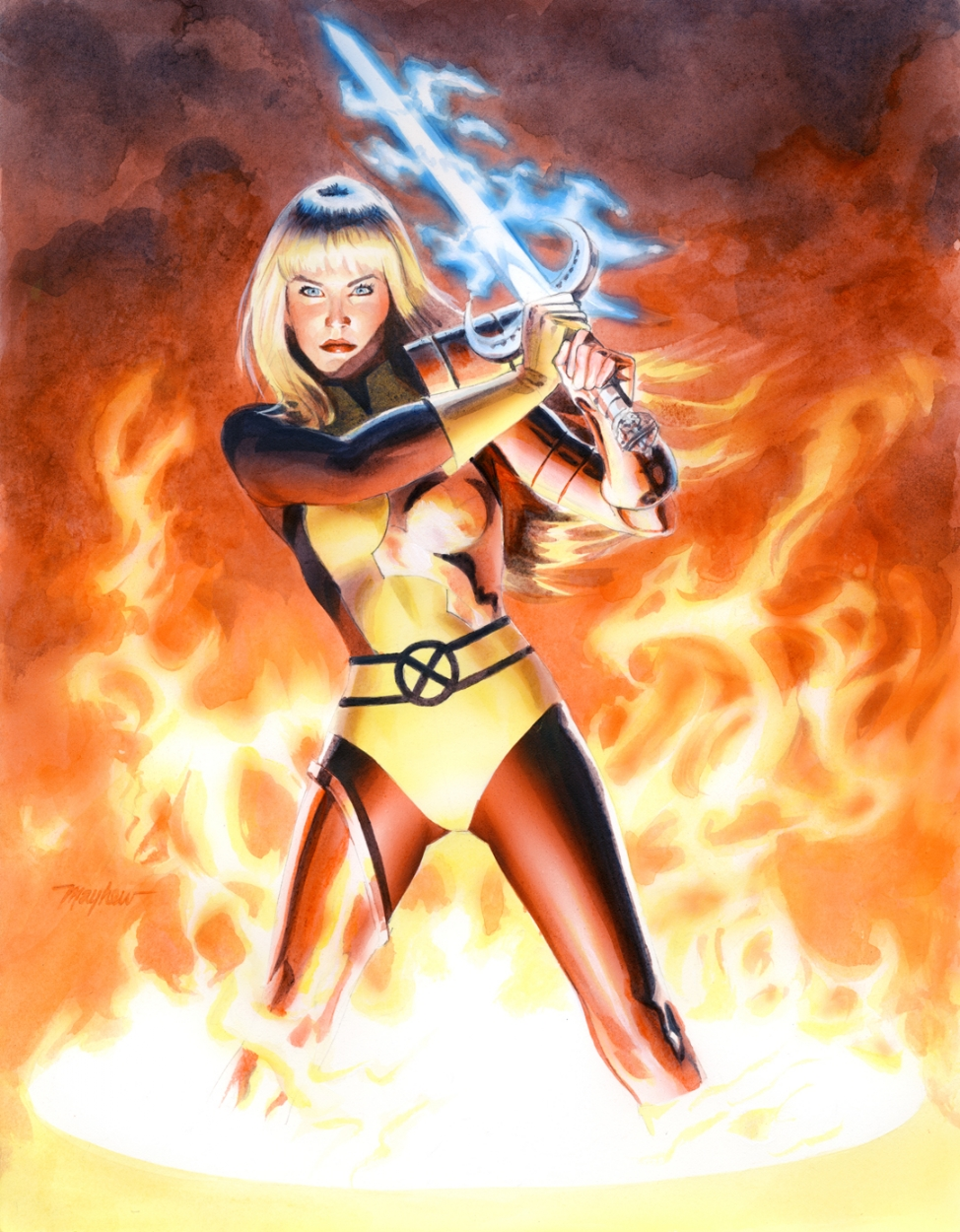 Mike Mayhew MAGIK Commission Comic Art