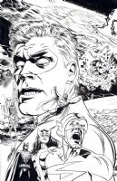 Mike Mayhew Original EARTH 2: FUTURE'S END Commission Comic Art