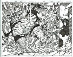 Incredible Hulk 38 DPS by John Romita Jr., 2002 -- Hulk Smash !!, Comic Art