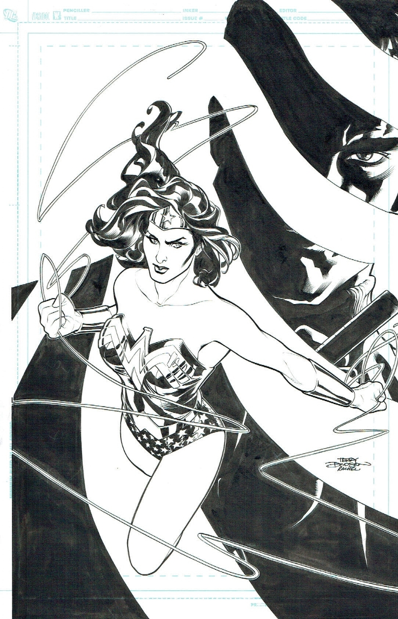 Wonder Woman 12 COVER by Terry & Rachel Dodson, 2007 Comic Art