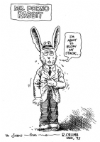 R. Crumb  Mr. Porno Rabbit  sketch Comic Art