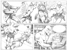 Felmang, The Phantom prelim page Comic Art