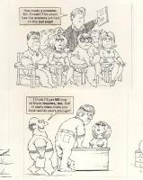 Al Jaffee two-pager - detail Comic Art